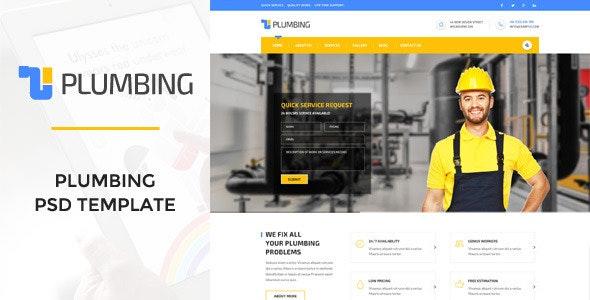 Plumbing - Handy Man PSD Template - Business Corporate