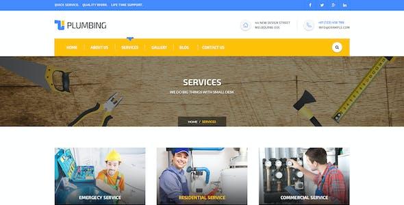 Plumbing - Handy Man PSD Template