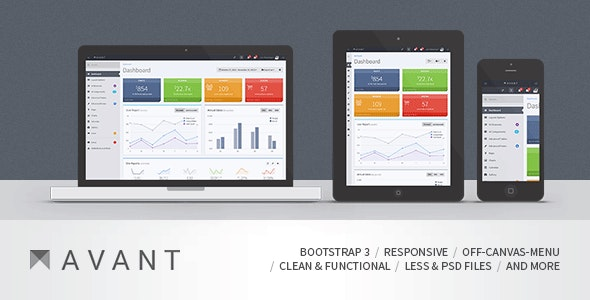 Avant - Clean and Responsive Bootstrap 3.3.2 Admin - Admin Templates Site Templates