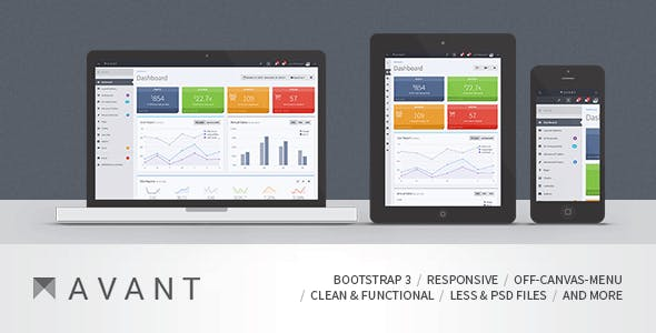Avant - Clean and Responsive Bootstrap 3.3.2 Admin