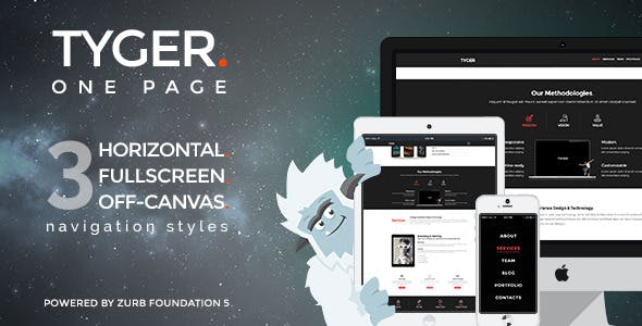 Tyger - Clean and elegant onepage template
