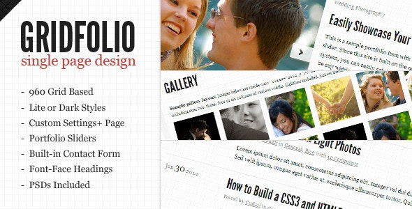 GridFolio WP - Grid Based Single Page Portfolio - Portfolio Creative