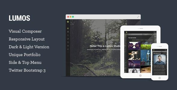 Lumos – Multipurpose Single/Multi-page WP Theme - Photography Creative