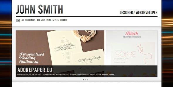 John Smith. Personal CV/Portfolio Website Template