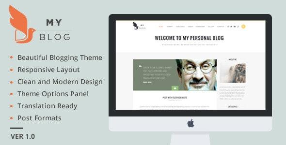 MyBlog - Responsive Blog Magazine Theme - Blog / Magazine WordPress