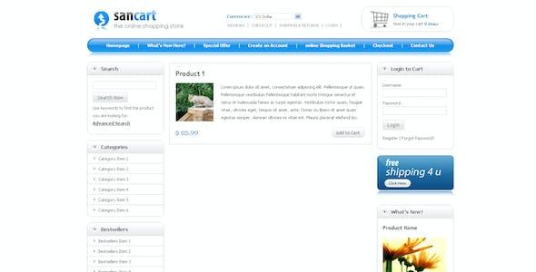 SANCART HTML SHOPPING CART TEMPLATE