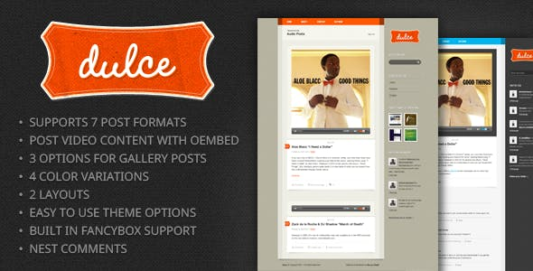 Dulce – A Tumblr Style WordPress Theme