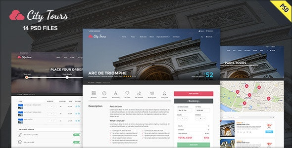 CityTours PSD - Travel and Hotels - Travel Retail