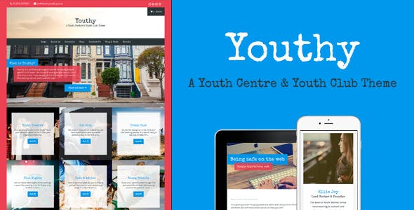 Youthy - A Youth Centre & Club Theme