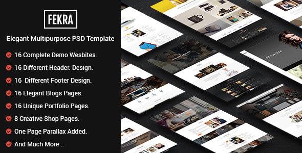 Fekra - Elegant Multipurpose PSD Theme - Corporate Photoshop