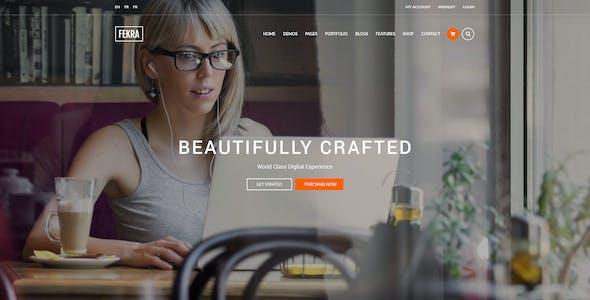Fekra - Elegant Multipurpose PSD Theme
