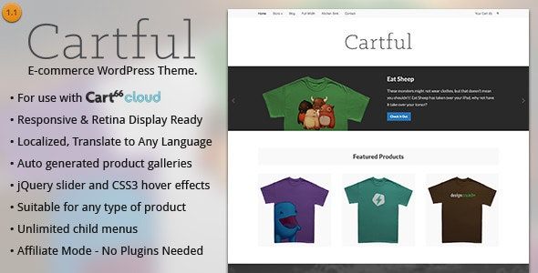 Cartful - Ecommerce WordPress Theme for Cart66 - Cart66 eCommerce