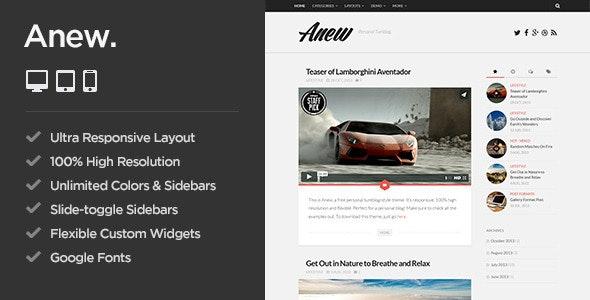 Anew - Responsive WordPress Tumblog Theme by AlxMedia