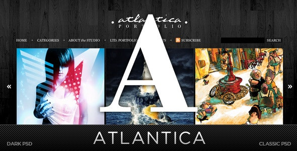 Atlantica (PSD) - Premium PSD Package - Portfolio Creative