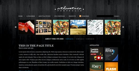 Atlantica (PSD) - Premium PSD Package