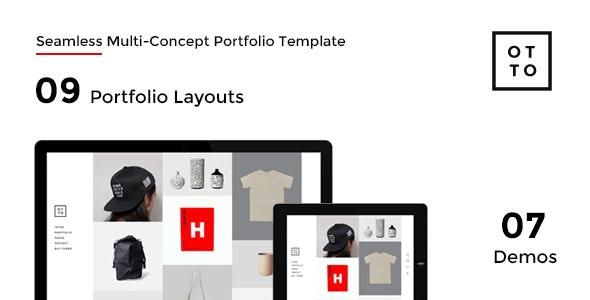 OTTO - Seamless Multi-Concept Portfolio Template - Portfolio Creative