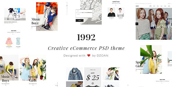1992 | Creative eCommerce PSD Theme - Fashion Retail