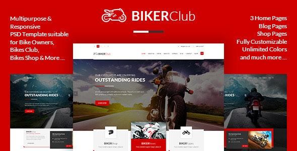 BikersClub - PSD Template - Retail Photoshop