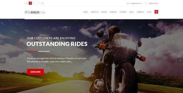 BikersClub - PSD Template