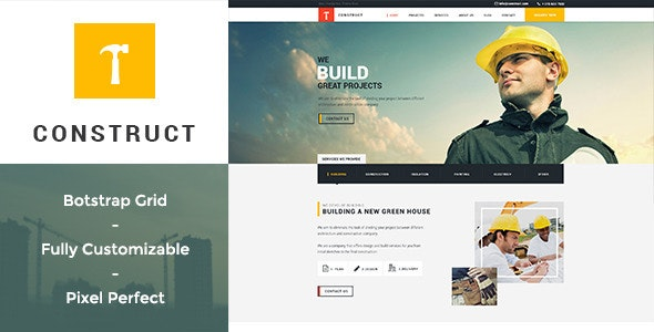 Construct - Building & Construction PSD Template - Business Corporate