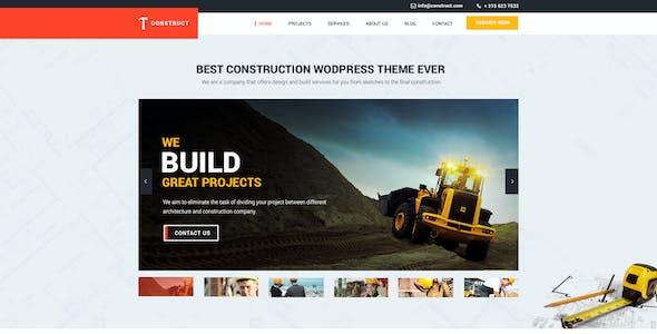 Construct - Building & Construction PSD Template