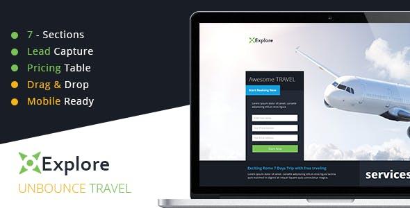 Explore - Travel Unbounce Template