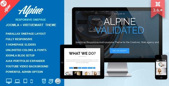 Alpine - Responsive One Page Joomla Template - Creative Joomla