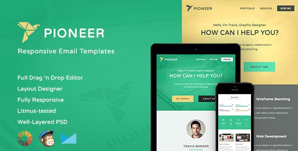 Pioneer-Professional Email Template + Editor - Email Templates Marketing