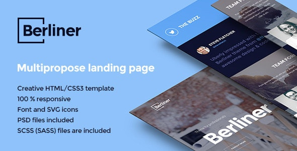 BERLINER - Multipurpose Creative Landing Page - Creative Landing Pages