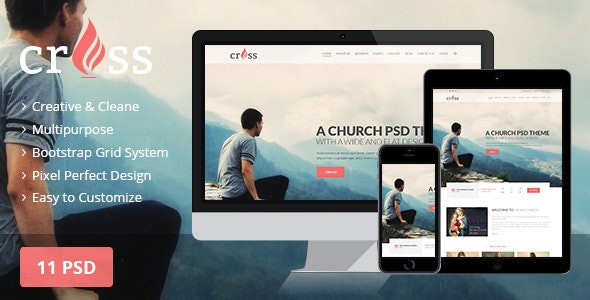 Cross Church | PSD template - Churches Nonprofit