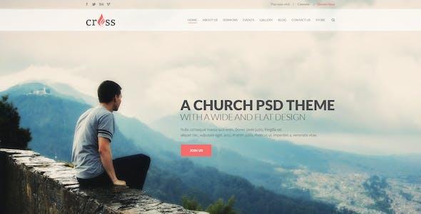 Cross Church   PSD template