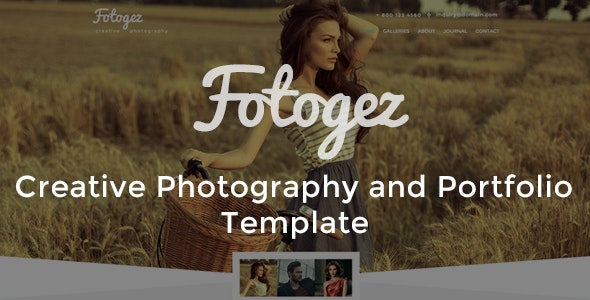 Fotogez - Creative Photography and Portfolio Template - Photography Creative