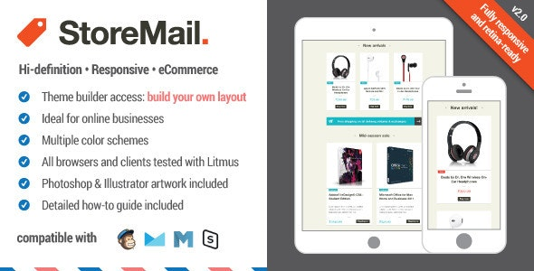 StoreMail: Responsive eCommerce Email + Builder Access - Email Templates Marketing