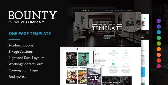 Bounty - Modern Responsive HTML Template - Creative Site Templates
