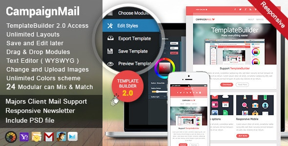CampaignMail - Responsive E-mail Template - Newsletters Email Templates