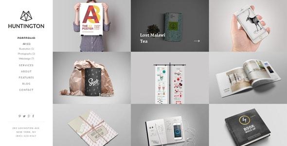 Huntington – Responsive HTML5 Portfolio Template - Portfolio Creative