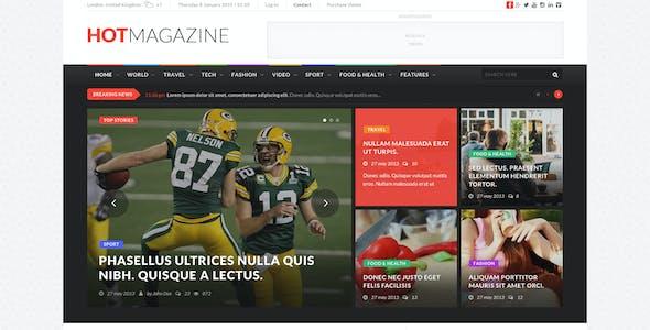 HOTMAGAZINE | Magazine PSD Template