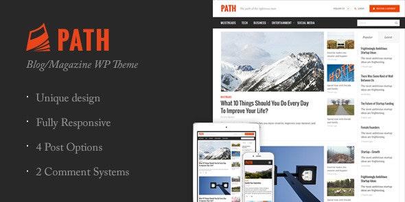 Path - Responsive Multipurpose Blog/Magazine Theme  - Blog / Magazine WordPress