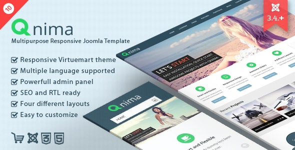 Qnima - Responsive MultiPurpose Joomla Template - Business Corporate