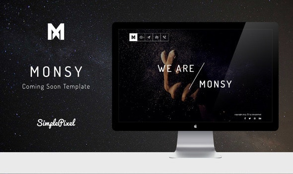 Monsy - Creative Coming Soon Template - Under Construction Specialty Pages