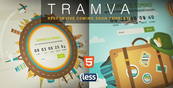 Tramva - Travel Coming Soon Template - Specialty Pages Site Templates