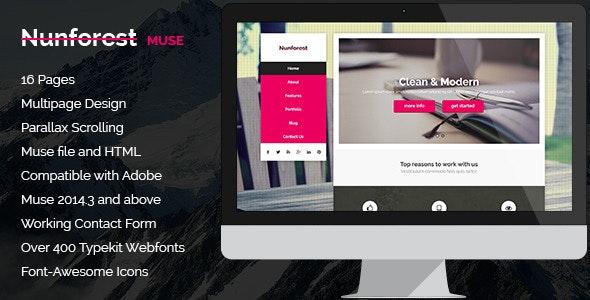 Nunforest - Multipurpose Muse template - Creative Muse Templates