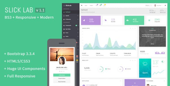SlickLab - Responsive Admin Dashboard Template