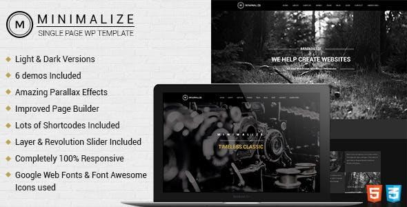 Minimalize | Single Page WordPress