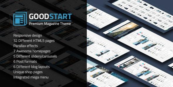 GoodStart - Multipurpose Magazine HTML Template - Technology Site Templates