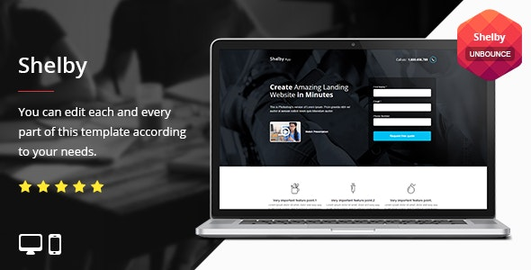 Shelby - Unbounce Template - Unbounce Landing Pages Marketing