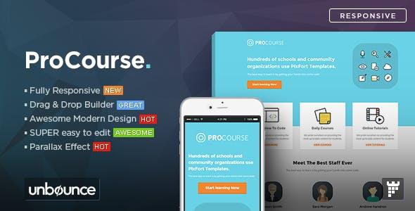 ProCourse - Unbounce eCourse Landing Page Template