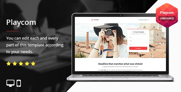 Playcom - Unbounce Template - Unbounce Landing Pages Marketing