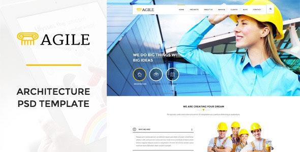 Agile - Building & Construction PSD Template - Business Corporate