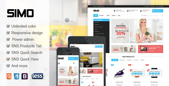SNS Simo - Responsive Magento Theme - Magento eCommerce